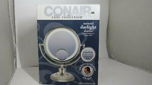 Conair Elite Collection Satin Nickel Finish Daylight Mirror 10x - New Open Box