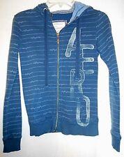 AEROPOSTALE juniors/womens steel blue slim fit zip front hoodie size S