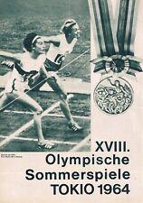 Progress Filmprogramm - XVIII. Olympische Sommerspiele Tokio 1964