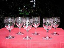 BACCARAT CHABLIS 6 WINE GLASSES VERRES A VIN CRISTAL GRAVÉ 5588 FLEUR DE LYS