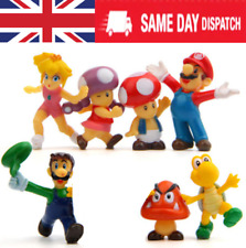7PCS Super Mario Bros Action Figures Doll toy Playset CAKE TOPPER