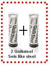 QuikSteel quicksteel putty Metal Weld quick steel chemical seal repair epoxy x2