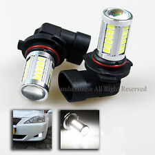 2PC 31W 9006/HB4 JDM BRIGHT WHITE SMD PROJECTOR LENS LED FOG/DRIVING LIGHT BULBS
