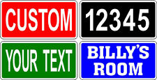 "Your Text Name Custom Personalized 6"" x 12"" sign wedding man cave street number"
