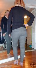 Dolce & Gabbana plaid grey wool cigarette zipper dress pants size 42 ret $499