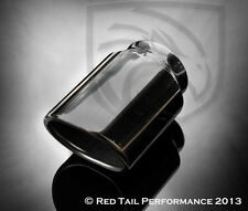 "RTP Exhaust Muffler Tip  Oval Angle Two Wall 2.25"" Inlet 2.75x3.20"" OD CLEARANCE"