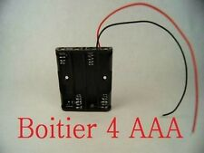 Boitier Bloc Support Coupleur 4 Piles AAA (4.8V ou 6V) RC Battery Accu Montage