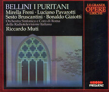 2CD BELLINI I Puritani * Pavarotti Freni Muti Giaiotti