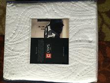 NIB Chaps Allistair 100% Cotton White coverlet quilt maltase Paisley -  King