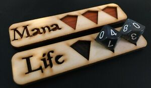 Custom Magic Life / Mana Counter. Custom Wood Dice Tray. MTG