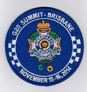 Queensland Police G20 Summit Brisbane 2014 Patch (social)