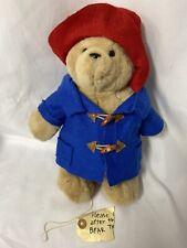 "Paddington Bear with wool coat and hat 14"" inch Plush Stuffed Animal"