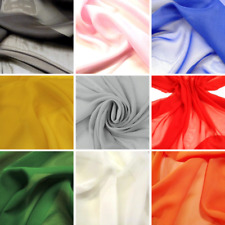 30m Roll of Polyester Chiffon Fabric - Excellent Quality - Great Bulk Buy Saving