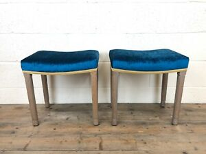 Pair of H.M. Queen Elizabeth II Coronation Stools (M-960) - FREE DELIVERY*