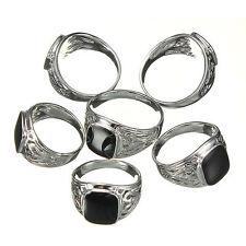 Markenlose Modeschmuck-Ringe mit Onyx-Hauptstein