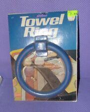 Vtg NOS Borden Chemical LUSTRO WARE Plastic Towel Ring Bar BLUE (B)