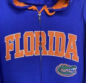 FLORIDA GATORS Team Logo Men Blue Hoodie Fleece Sweatshirt XXL Colosseum NEW TAG