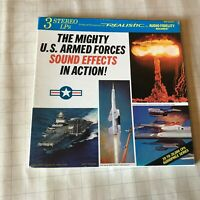 The Mighty US Armed Forces Sound Effects In Action 3 LP Album Vinyl Box 1967 U.S