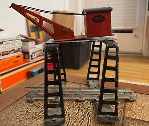 Marx Trains New York Central Lines Gantry Crane O Scale Prewar tin Over Track
