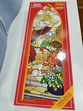Precious Moments Cork Board Puzzle 500 pcs I Will Dwell In The House Of The Lord