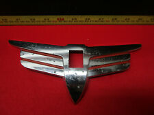 1938 PLYMOUTH LOWER GRILLE EMBLEM TRIM BADGE CRANK HOLE