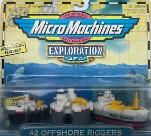 Micro Machines Sea Exploration #2 OFFSHORE RIGGERS (Year 1998) UNOPENED !!!