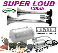 TRUCK TRAIN AIR HORN H/D VIAIR 150psi Compressor  1 Gal Kit Loud for Cars Trucks