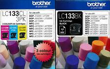 Genuine Brother LC133 4-Ink Value Pack for MFC J4510 J4710 J6920 J870DW