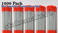 """1000 pack 48"""" long reflective driveway markers snow plow stakes poles orange"""