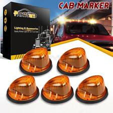 5x1313 Cab Roof Light Marker Amber Cover+Base for 73-87 Chevy C10/20/30/50/60/70
