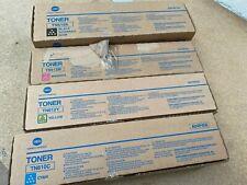 konica minolta Bizhub pro c6500, c5500 toner full set of original toners CMYK