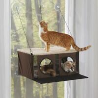 The Cat's Windowed mounted Penthouse Kitty Condo microfleece lining