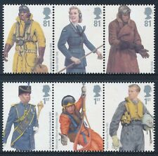 2008 GB ROYAL AIR FORCE UNIFORMS SET OF 6 FINE MINT MNH SG2862-SG2867