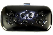 Dorothy Perkins Black Box Clutch bag Embellished with Black Stones