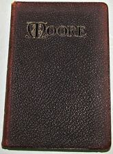 1900 The Complete Poems of Sir Thomas Moore ~ Leather HC, Gilt, Antique Volume