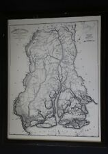 Large Reproduction of 1825 Map by Vignoles & Ravenel of Beaufort, South Carolina