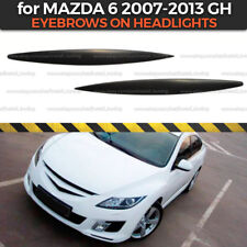 Eyelids Eyebrows Headlights Covers for Mazda 6 GH Atenza 2007-2013 plastic ABS
