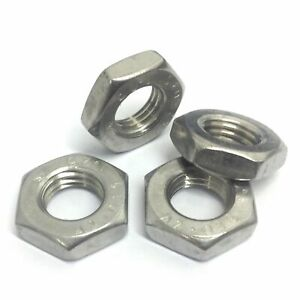 A2 Stainless Fine Pitch Half/Thin Locking Nuts