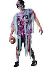 Adult Men's End Zone Zombie American Football Fancy Dress Halloween Costume New