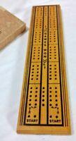 Vintage Drueke's Natural Finish Hardwood Cribbage Board 6 Pegs/Instructions