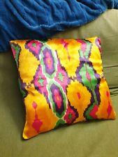 Ikat 100% Silk Uzbek Vintage Adras Pillow cases/Cushion covers, handmade