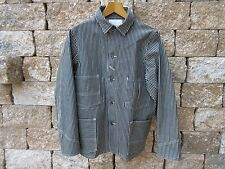 Heavy Engineer Hickory Stripe Denim Vintage Worker Jacket 1918 Lutece MFG US 40