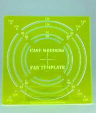 Fan Hole Template Guide for computer case modding  120mm, 140mm, 92mm, 80mm