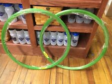 Pair of Velocity Deep V Rims Green 700C 32 Hole