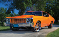 "ORANGE CHEVROLET CHEVELLE A1 CANVAS PRINT POSTER FRAMED 33.1""x21.4"""