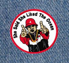 Cool Vintage Style East Coast Hip Hop Rap DJ Shirt Patch Badge 9cm