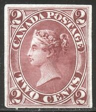CANADA #20TC on India - 1864 2c Dark Rose