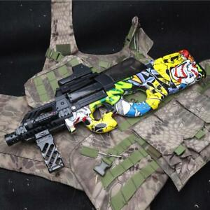 Electric Plastic White P90 Graffiti Edition Toy & Soft Water Gun Toys For Kids