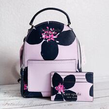 NWT Kate Spade Cameron Grand Flora Mini Convertible Backpack & Card Case *SET*