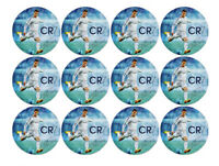 12 CRISTIANO RONALDO EDIBLE 4CM WAFER PAPER CUPCAKE CUP CAKE IMAGES TOPPERS 1
